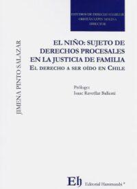 El Niño: Sujeto de Derechos Procesales en la Justicia de Familia Editorial Hammurabi Autor: Jimena Pinto Salazar ISBN: 978-956-6022-30-5 Formato: 23 x 15 cm Edición 2019 408 páginas