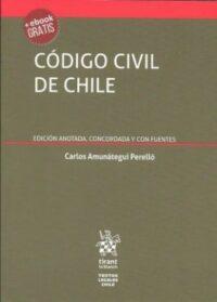 Código Civil de Chile Editorial Tirant Lo Blanch. Autor: Carlos Amunátegui Perelló ISBN: 978-84-1313-395-9 edición 2019 Formato: 12,5 x 17 cm 694 páginas. Incluye e-book gratis.
