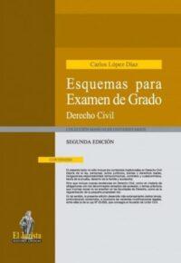 Esquemas para Examen de Grado, Derecho Civil Ediciones Jurídicas El Jurista Autor: Carlos López Díaz ISBN: 978-956-8839-58-1 Formato: 21,5 x 15,5 cm 2da edición 2019 456 páginas